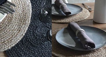 Round jute placemats