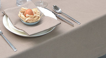 Hotel linen Easter tablecloth